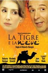 Cártel El tigre y la nieve de Roberto Benigni