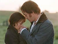Keira Knightley (Elizabeth Bennet) Matthew Macfadyen (Sr. Darcy) en Orgullo y Prejuicio