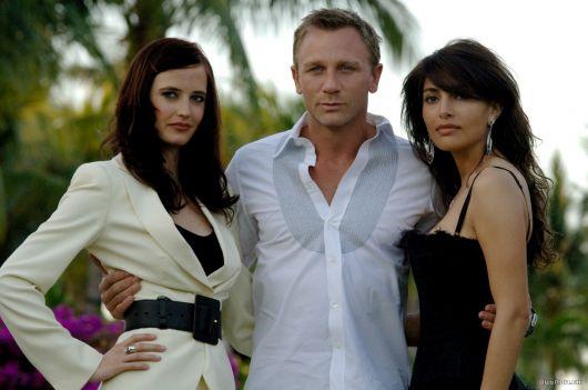 Caterina Murino Eva Green y Craig David en Casino Royale