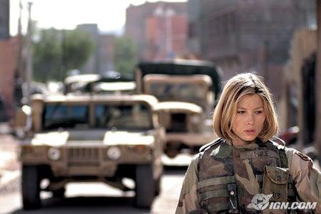 Jessica Biel en Irak